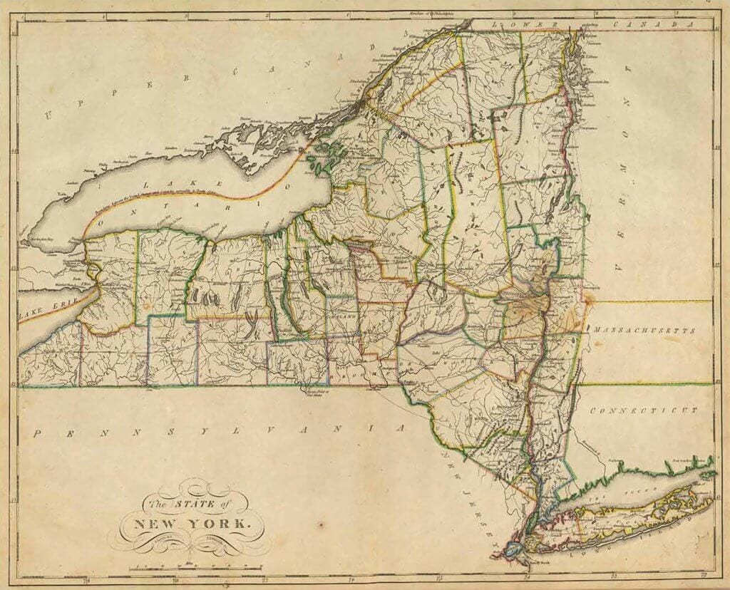 Vintage NYS Map