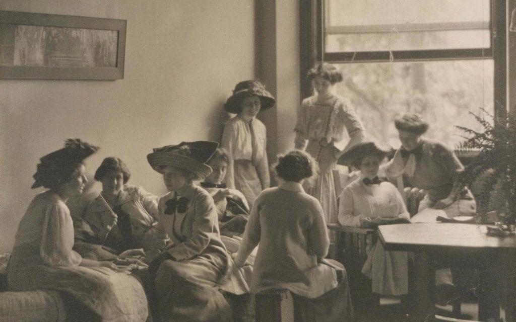 Vintage Ladies Reading Room